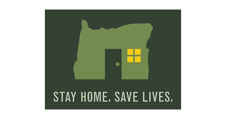 Oregon - Stay Home. Save Lives. logo